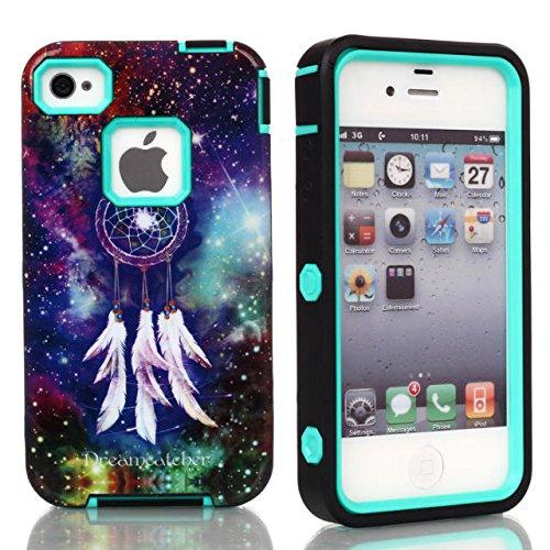 iPhone Case 5C, Lantier Dream Catcher Muster 3 in 1 Entwurf [Shockproof] [Heavy Duty Auto] [Robuste Gummi Combo] Case Schutzhülle für Apple iPhone 5C Mint Green