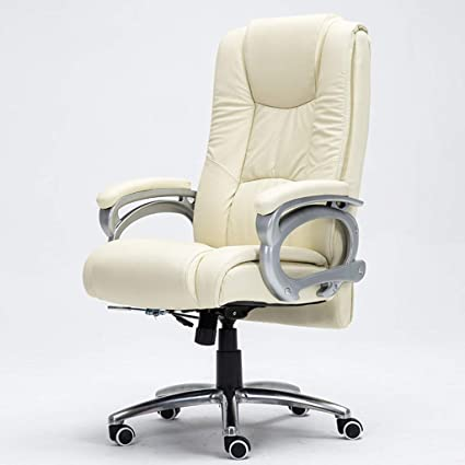 Admirable Amazon Com Ffl2019 Leather Home Computer Chair Office Boss Machost Co Dining Chair Design Ideas Machostcouk
