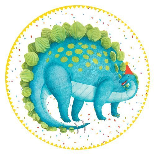 Paper Plates Dinosaur Party Supplies Kids Birthday Party Ideas Cake Plates 8 Inch Pk 16 ()