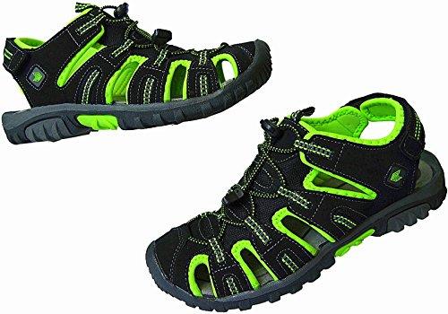 Herren Outdoorsandale Schuhe Trekking Sandale gr.41 - 46 art.nr.5525 schwarz-apfel-grün