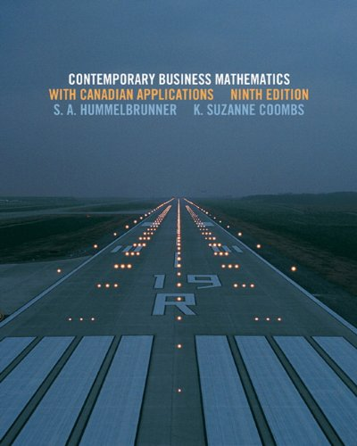 Contemporary Business Mathematics with Canadian Applications with MyMathLab (9th Edition)