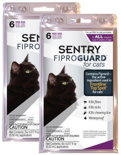 12-PACK Fiproguard Flea and Tick Squeeze-On for Cats, My Pet Supplies