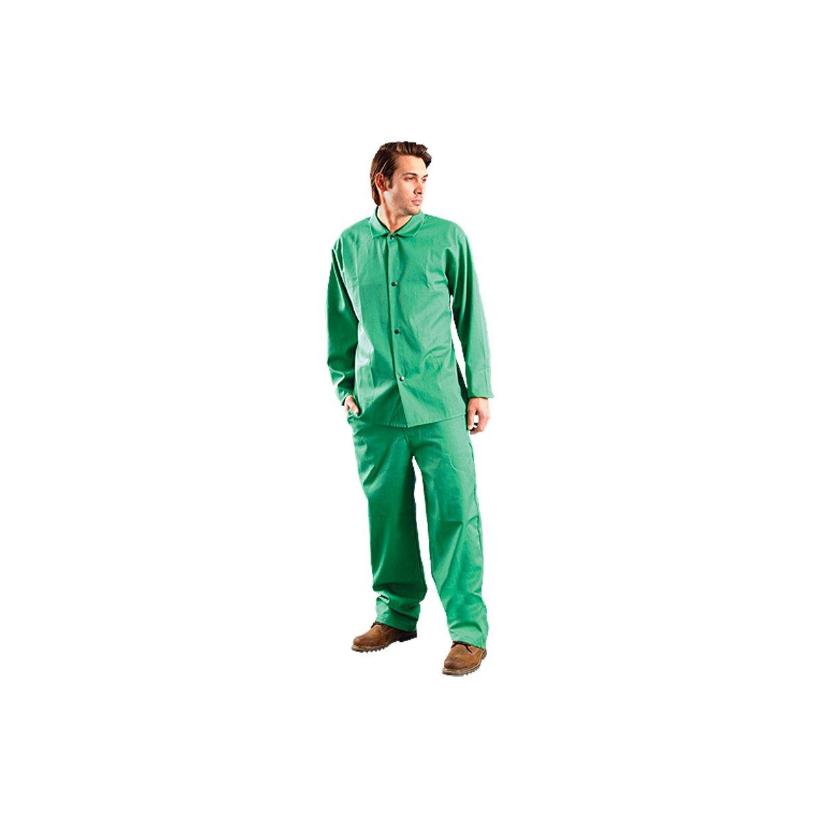 FR Cotton Green Size 32 32 Length Occunomix MIG201V-32 MigWear Value Welding Pant