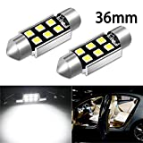 CIIHON 36MM 1.50' LED Festoon Bulb 6-3030SMD C5W 6411 6418 DE3423 Interior Canbus Error Free Dome Map Lights 12V License Plate 6000K White Super Bright Replacement 2 Pack, 1 Year Warranty