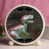 Reloj despertador, recámara mesa Retro portátil relojes con luz nocturna diseños personalizados dinosaurios 250_ reptil Fauna Tyrannosaurus Rex Playmobil Toys dinosaurio