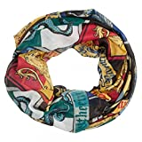BioWorld Women's Harry Potter Crests Infinity Loop Scarf, Multi-Color