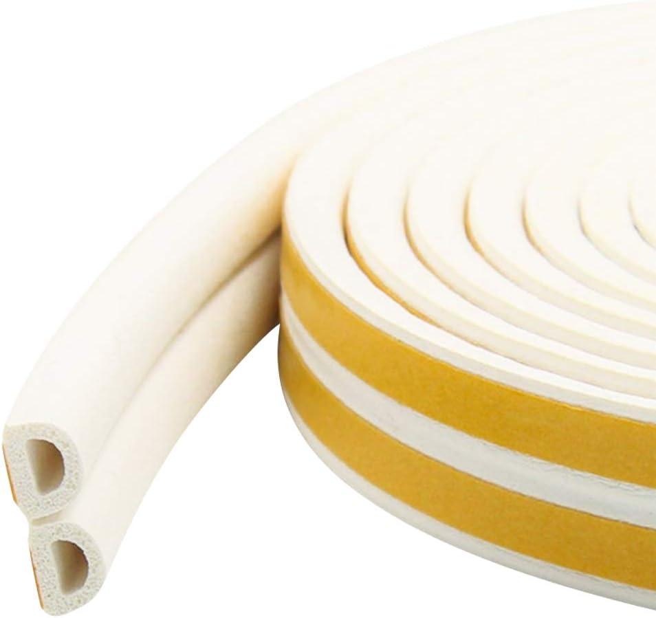 marron boudin de porte anti-collision /étanche fen/être auto-adh/ésif JDD Joint d/étanch/éit/é en caoutchouc en mousse pour porte anti-bruit