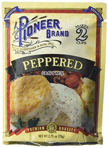 (Pioneer Brand Peppered Gravy Mix 2.75oz pack of 6)