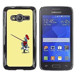 LECELL -- Funda protectora / Cubierta / Piel For Samsung Galaxy Ace 4 G313 SM-G313F -- Funny Toy Horse Knight --