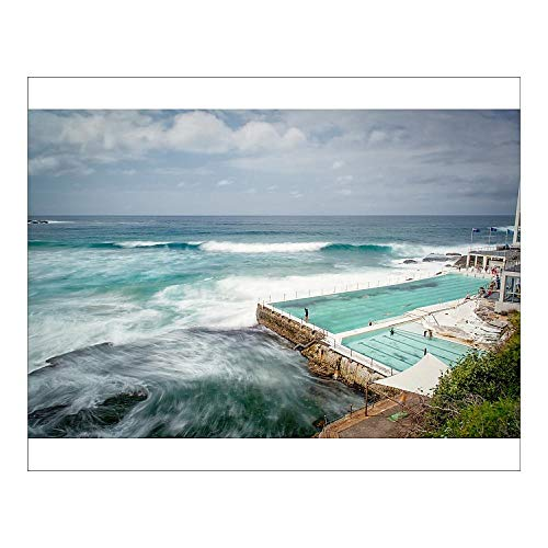 Media Storehouse 20x16 Print of Furious Sea by Bondi Icebergs Pool (13475349)