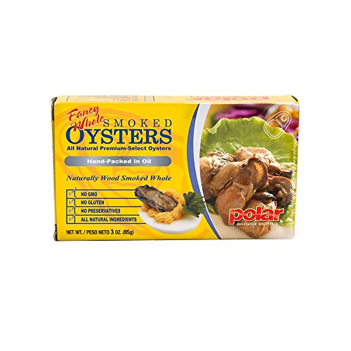 MW polar Fancy Whole Smoked Oysters, 3 Ounce (Pack of (Polar Oysters)