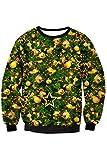 Kisscy Womens Crew Neck Snowflake Snowmen Print Funny Xmas Holiday Sweatshirt