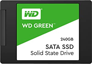 "Western Digital 240GB WD Green Internal PC SSD - SATA III 6 Gb/s, 2.5""/7mm - WDS240T2G0A"