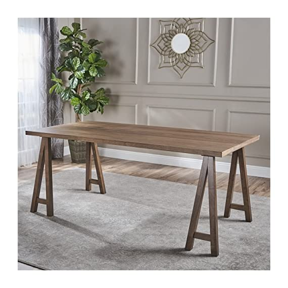 "Christopher Knight Home Sabine Farmhouse Wood Dining Table, Natural Walnut Finish - This Simple, elegant dining table will make an attractive addition to almost any home. Versatile enough to serve as a large desk or gaming table, it is made from rubberwood and natural oak and constructed to hold up to any of the uses you might imagine for it. You're sure to get many compliments on it Includes: one (1) table Dimensions: 35. 40""D x 70. 80""W x 29. 50""H - kitchen-dining-room-furniture, kitchen-dining-room, kitchen-dining-room-tables - 51lA7k7K8yL. SS570  -"