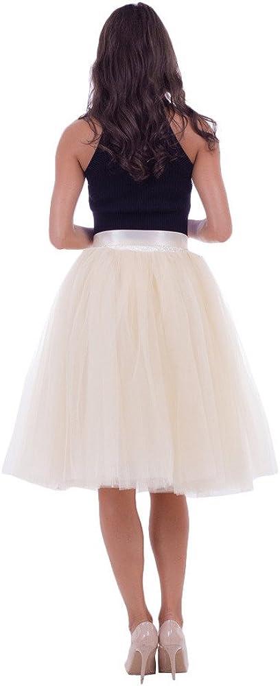 YGbuy Vestido de Novia de Medio Cuerpo Mujer Elegante Falda de Tul ...