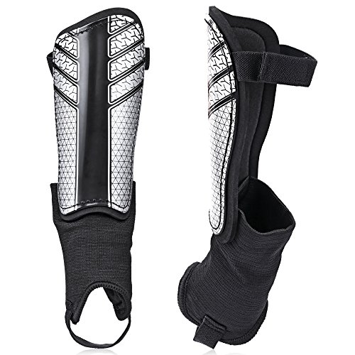 TAGVO Soccer Shin Guards, Kids Soccer Equipment with Ankle Sleeves Protection, Youth Sizes Child Soccer Shin Pads for Boys Girls