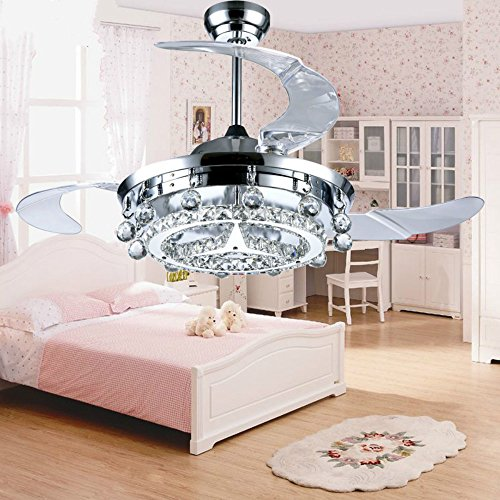 Huston Fan Modern Ceiling Fan With Remote Control And Retractable Blades For (Ceil Finish Kit)