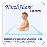 NorthShore Economy, 17 x 24, 6 oz, Changing Pads, Small, Case/280 (4/70s)