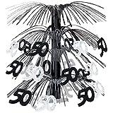 Beistle 50 Cascade Centerpiece, 18-Inch, Black/Silver