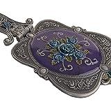 Nerien Vintage Rose Metal Mirror Comb Set Antique