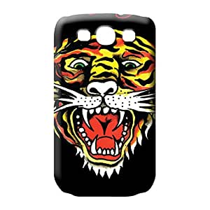 samsung galaxy s3 cell phone carrying covers Protection case cover Eco-friendly Packaging ed hardy tiger black
