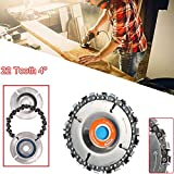 Maca.lina Angle Grinder Circular Saw Blades,4 Inch Grinder Disc and Chain 22 Tooth Fine Cut Chain Set for 100/115mm