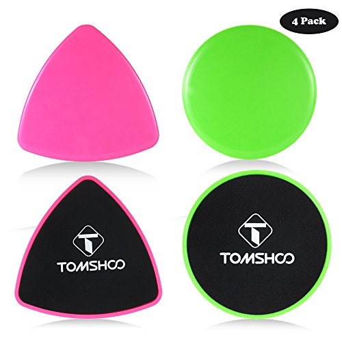 TOMSHOO Gliding Discs Core Sliders, Dual Sided Use on Carpet