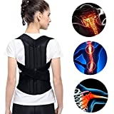 Gatycallaty Posture Corrector Back Brace Support Belt for Adult/Kids Shoulder Back Waist Pain Relief for Humpback Recorrect Body Shape with Double Strong Splints (L)
