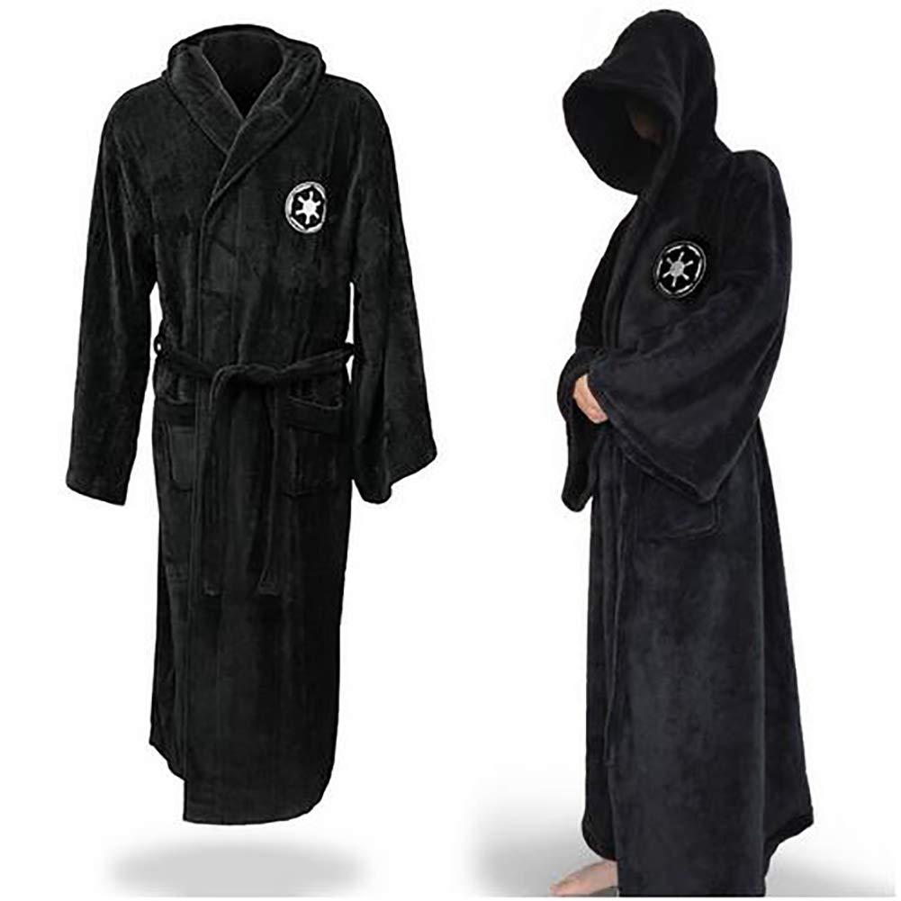1PC Caballero Jedi Robe Fleece Batas Disney Star Wars Albornoz cosplay Set para el hombre y la mujer (M, Negro): Amazon.es: Belleza