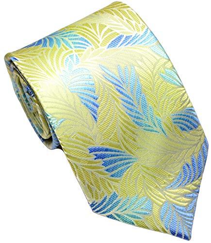 Scott Alone : New Classic Floral Jacquard Woven Silk Men's Tie Necktie (Beige)