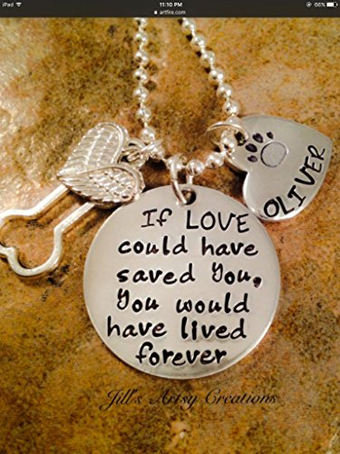 Pet Loss Necklace (5/8' Pendant Jewelry Round)
