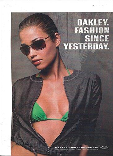 MAGAZINE ADVERTISEMENT For 2005 Oakley Sunglasses: Fashion Since - Sale Sunglass Oakley