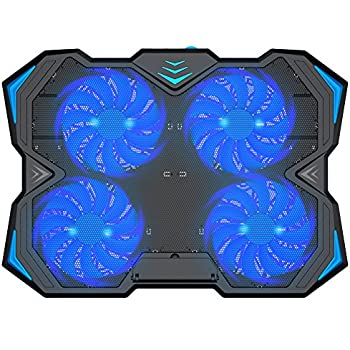 Amazon Com Kootek 12 17 Inch Laptop Cooling Pad 4 Quiet