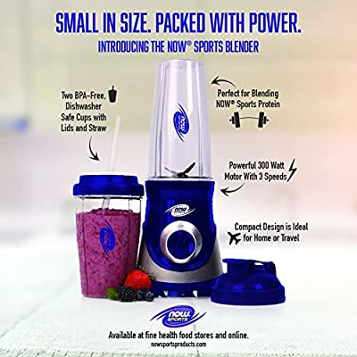 Now Foods Now Sports Blender 300 Watt Premium Personal Blender