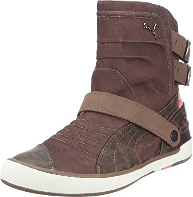 Puma Moto Diva Canvas Wn`s 304020, Damen Stiefel, Braun (shitake-shitake-tea rose 03), EU 36 (UK 3.5) (US 6)