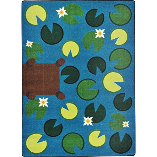 Joy Carpets Kid Essentials Early Childhood Playful Pond Rug, Multicolored, 7'8