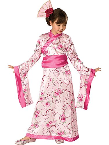 Rubies Girls Asian Princess Halloween Kimono Dress Costume, 2T-4T, Pink