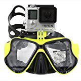 TELESIN Dive Scuba Diving Mask w/ Mount Compatible with Go Pro Hero 1, 2, 3, 3+ and 4, Swimming Mask for Snorkel / Snorkeling Underwater
