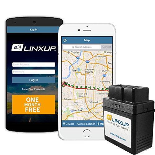 Linxup LPAAS1P1 OBD Vehicle Tracker with Month of Service, Car Tracker, Car GPS Device for Vehicle Tracking, Driving Alerts, Vehicle Maintenance