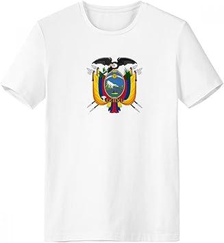 DIYthinker Quito Ecuador Emblema Nacional Escote de la Camiseta Blanca de Primavera y Verano de Tagless Comfort Deportes Camisetas de Regalos - Multi - XXXL: Amazon.es: Deportes y aire libre