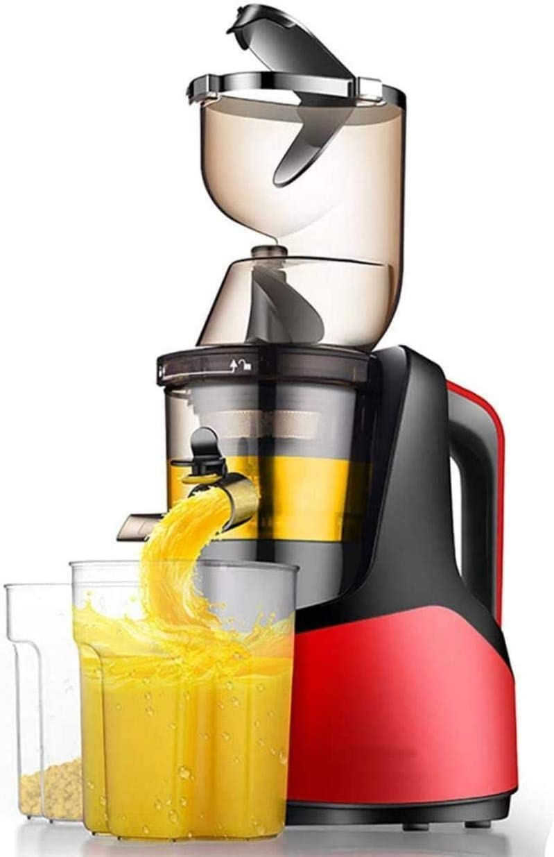 Mini Juicers Orange Blenders, Juicers Whole Fruit And Vegetable Easy Clean, Low Speed Large Wide Mouth Feeding Inlet Freshly Pressed Mixers machine (Color : Red)