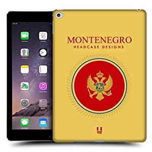 Head Case Designs Flag of Montenegro Patches Protective Snap-on Hard Back Case Cover for Apple iPad Air 2
