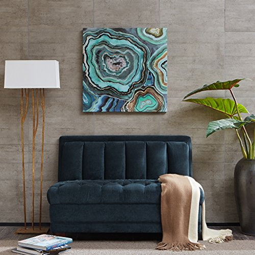 Olliix WA95C-0051 Aqua Agate Printed Canvas with Gel Coat (Aqua Canvas)