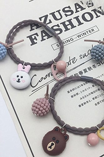 Generic [National] cute animal rubber band Hair Decor headbang products hand chain bracelet bangle wristband dual jewelry hair accessories Women Head hair rope Ties Ponytail Holder Band HairbandWomen by Generic