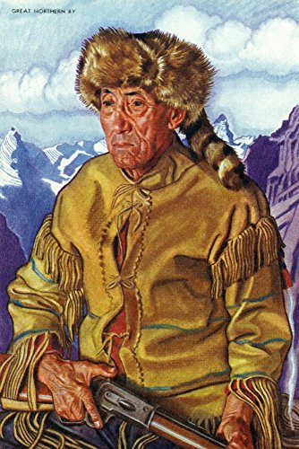 Portrait of Tom Dawson, a Native Mountain Man (24x36 SIGNED Print Master Giclee Print w/Certificate of Authenticity - Wall Decor Travel -
