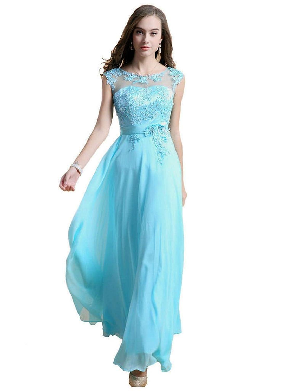 Oailiya Women's Chiffon Lace Evening Bridesmaid Dress