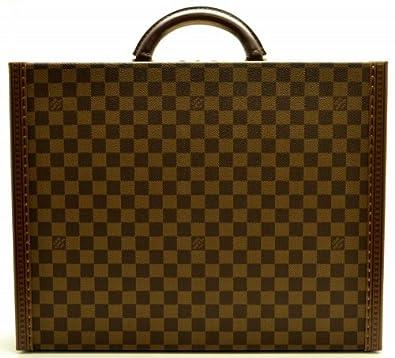 2c2cde6d12bc Amazon.co.jp: [ルイ ヴィトン] LOUIS VUITTON ダミエ プレジデント スーツケース ビジネスバッグ 旅行カバン  スペシャルオーダー M53012 [中古]: シューズ&バッグ