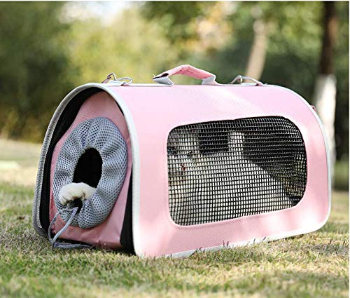 PinkL MARIS SoftSided Pet Travel Carrier for Cats,Dogs Puppy Comfort Portable Foldable Pet Bag Airline Approved,PinkL