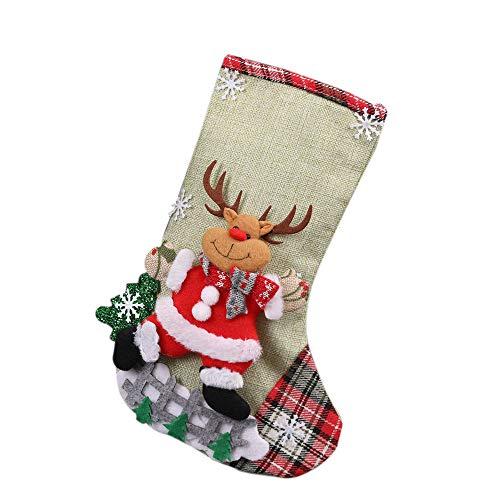 Mysky Christmas Xmas Tree Hanging Party Tree Decor Santa Stocking Sock Gift Candy Bags