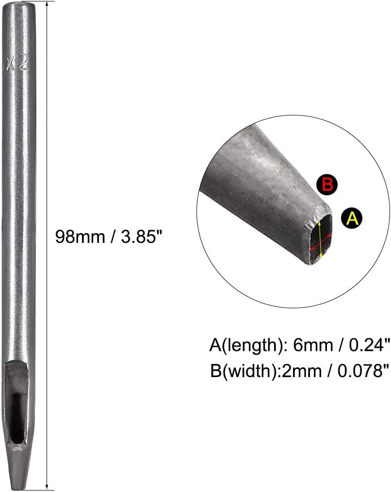 sourcing map Oval Stahl Leder Handwerk Hohl Locher Reparatur 9,5mm x 3,8mm f/ür Lederg/ürtel